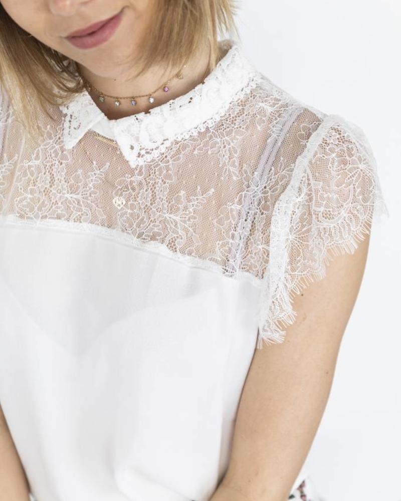 Lace Collar Blouse