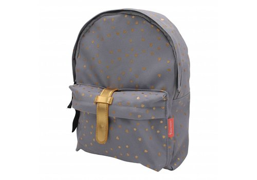 Kidzroom Gray backpack with hearts