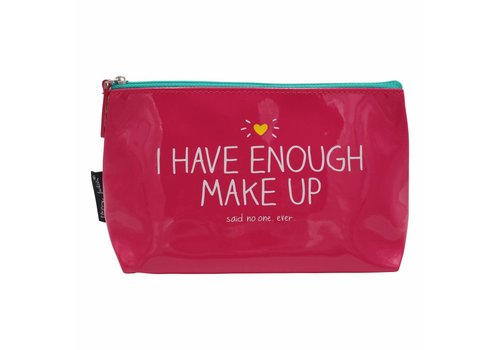 Pink make-up bag