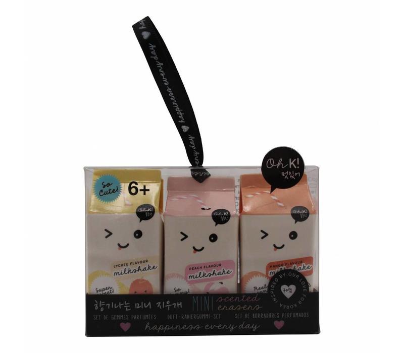 Oh K! Scented erasers - milk carton