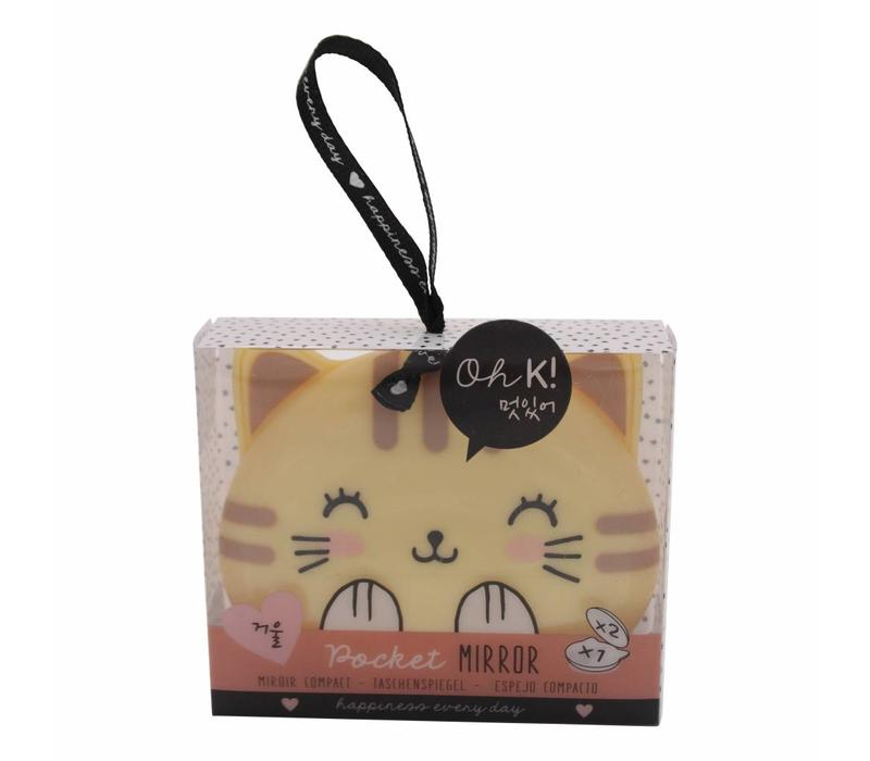 Oh K! pocket mirror - cat