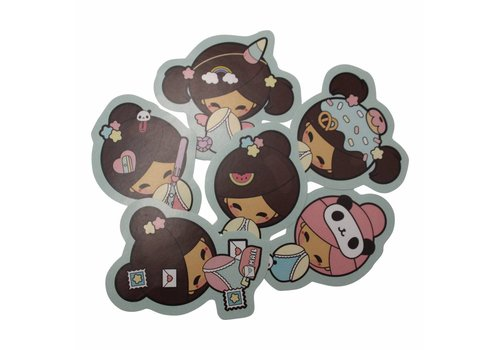 Chickawaii Kokemi dolls - stickers set