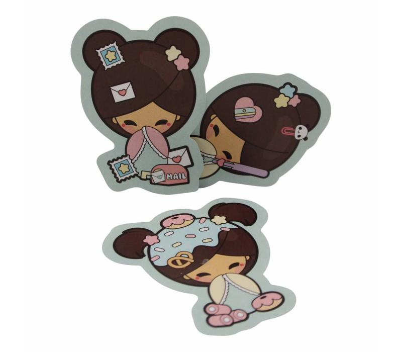 Kokemi dolls - stickers set