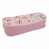 Moongs pattern pencil case - pink