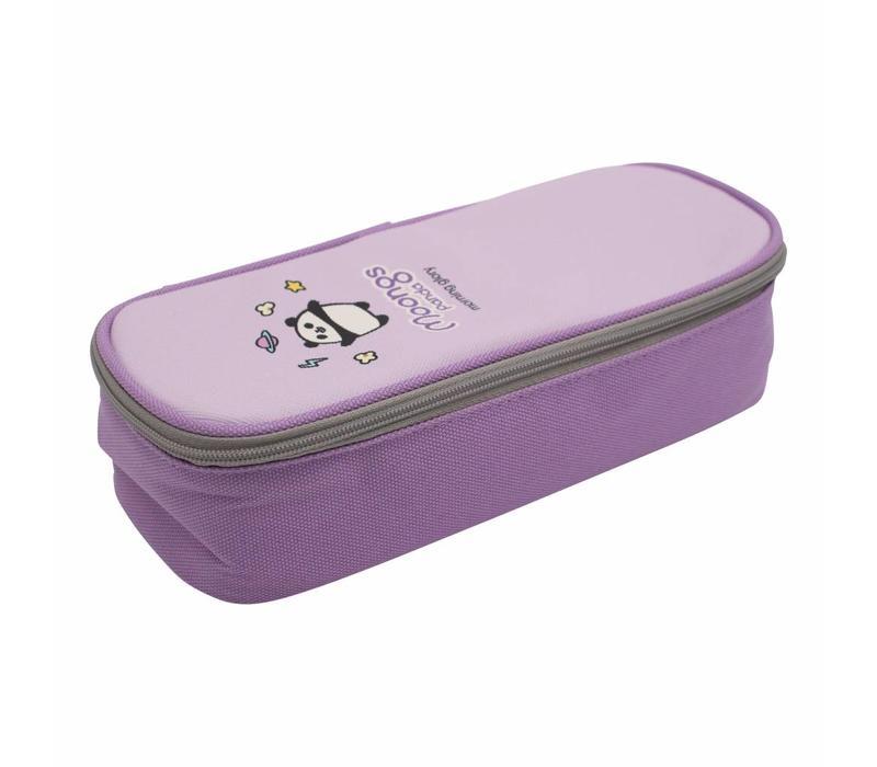 Moongs pattern pencil case - purple