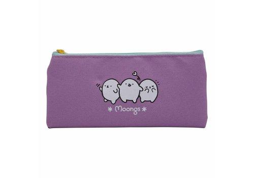 Moongs Moongs pencil case small - purple