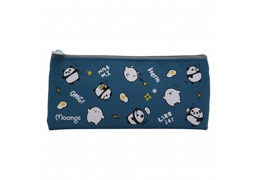 Moongs Moongs pencil case small - dark blue