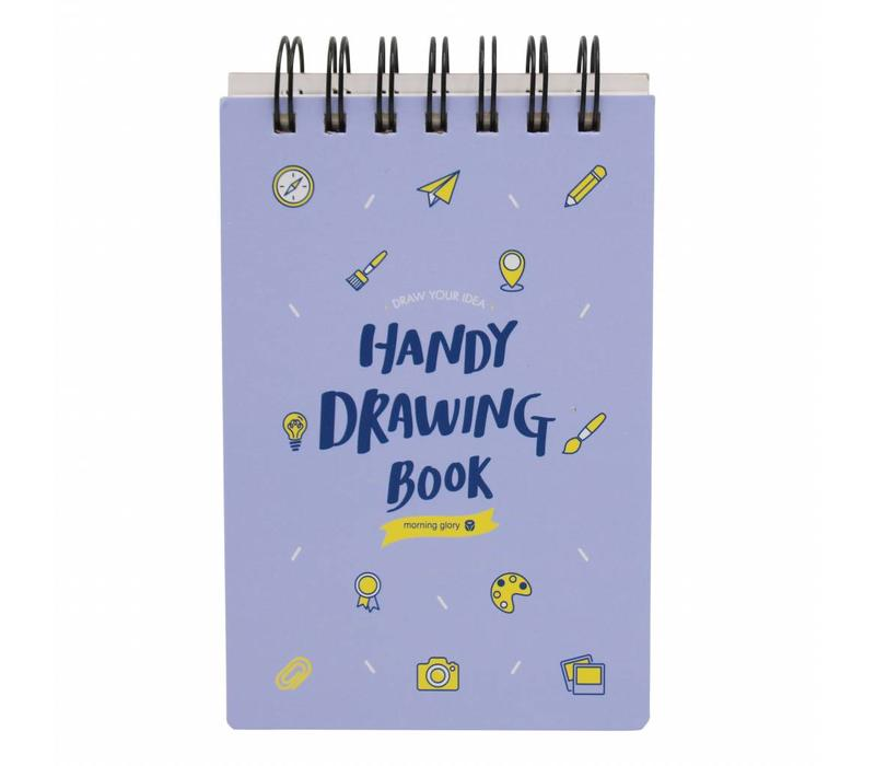 Moongs drawing book small-purple