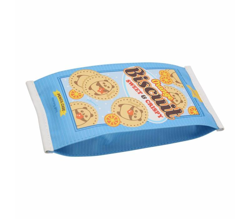 Moongs snack pencil case large - orange biscuit