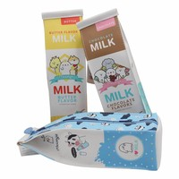 Moongs milk carton pencil case - chocolate
