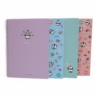 Moongs panda  large notebook - pink
