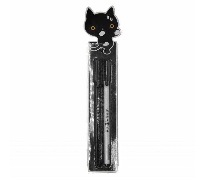 Miao gel pens - Black cat