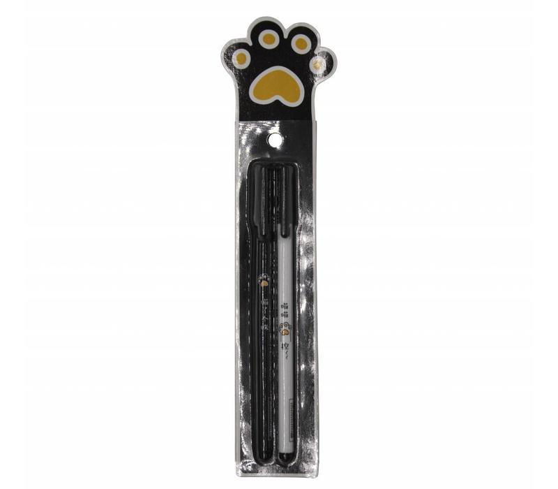 Miao gel pens - black paw