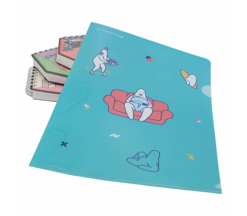 Mr. Donothing file folder A4