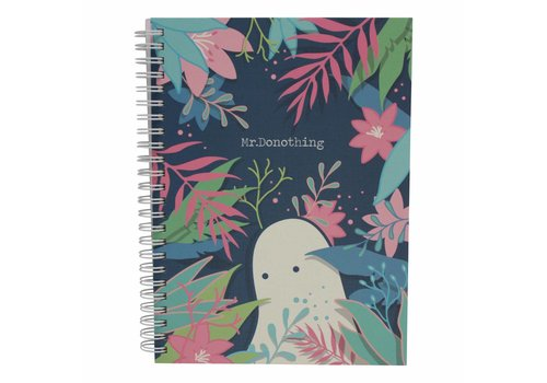 Mr. Donothing Spring notebook Blue