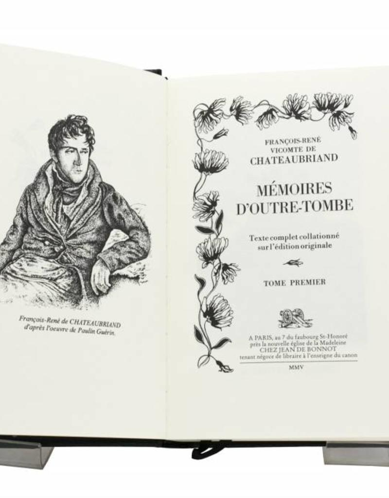 Chateaubriand, François-René de Chateaubriand, François-René de - Mémoires d'Outre-Tombe - Tome 1