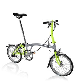 Brompton S3LU Grey / Lime Green