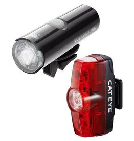 Cateye VOLT 400 XC FRONT LIGHT & RAPID MINI REAR USB RECHARGEABLE LIGHT SET: