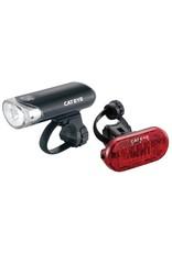 Cateye EL130 FRONT LIGHT & OMNI 3 REAR LIGHT SET: