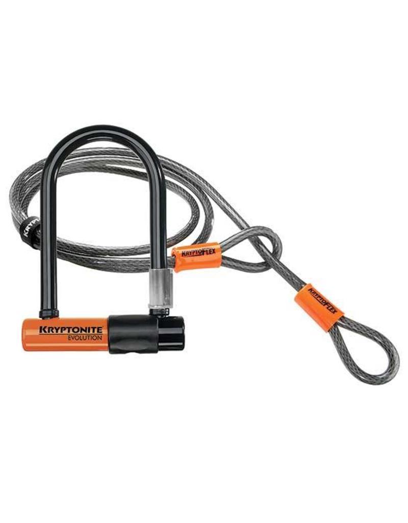 Kryptonite Evolution Mini 7 Lock and 4 Foot KryptoFlex Cable