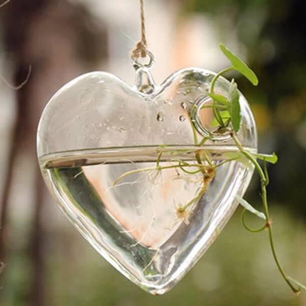 Heart Shape Hanging Glass Vase Creative Hobby Store