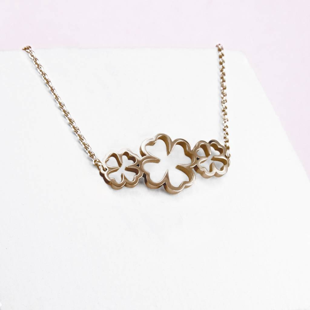 friend birthday rose gold shamrock leaf il initial fullxfull gift clover sisterhood four necklace best listing filled