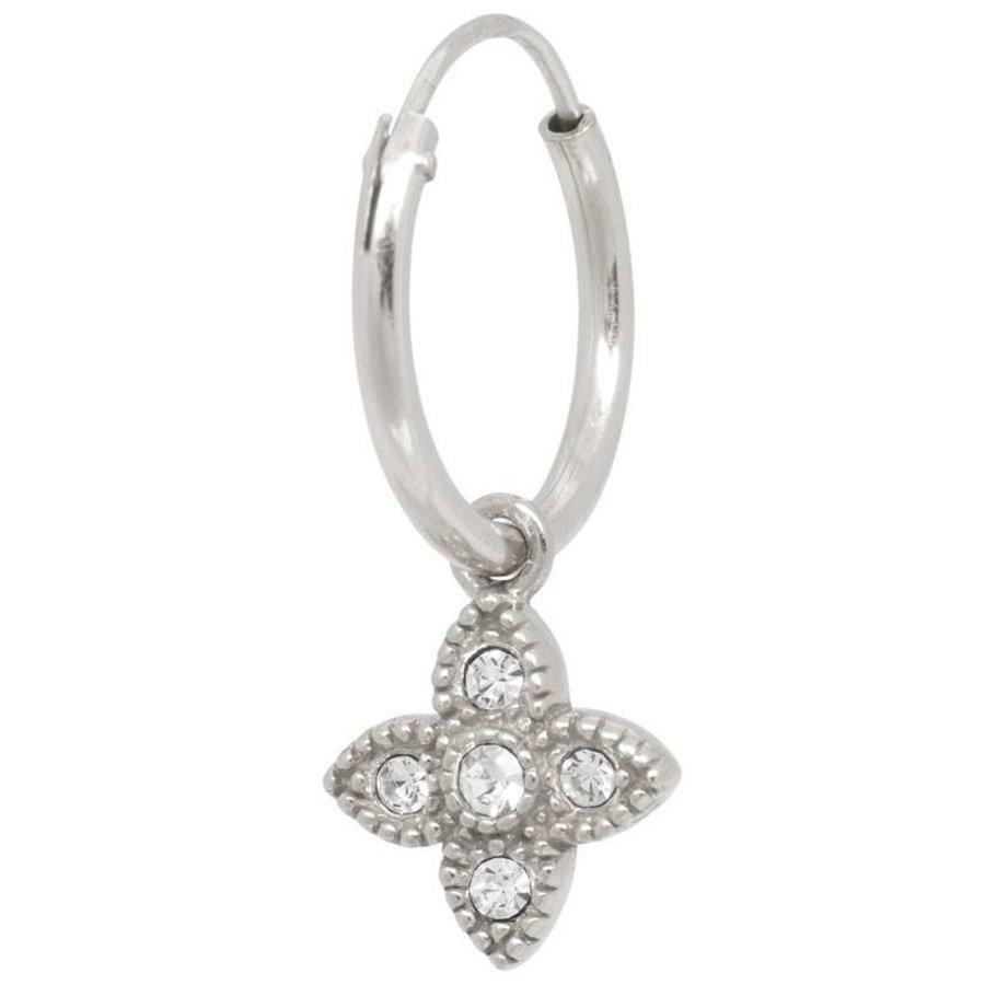 Essential Zirconia Hoop - Sterling Silver