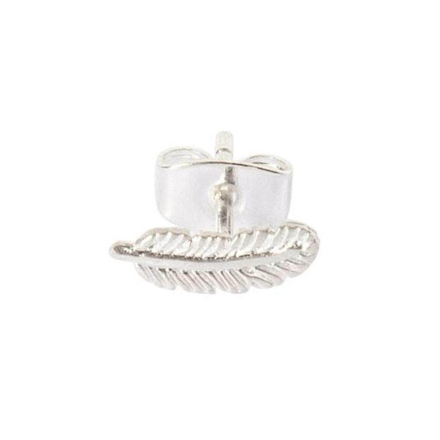 Tiny Feather Stud - Sterling Silver