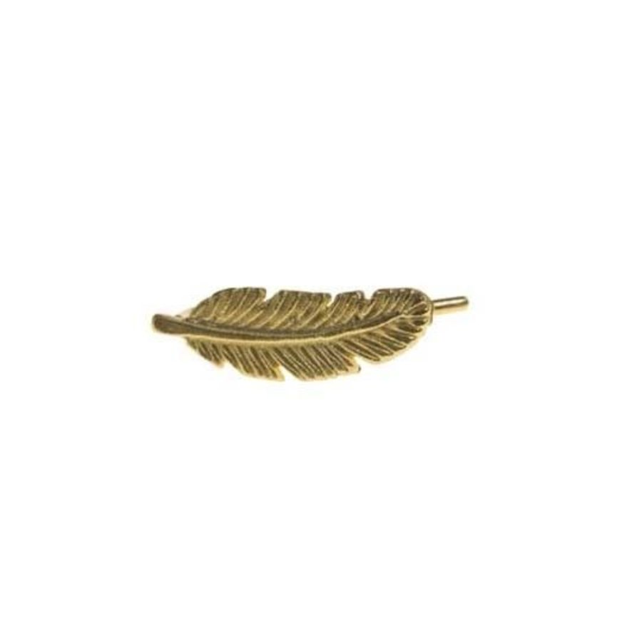 Feather Clip Earring - Gold Plated