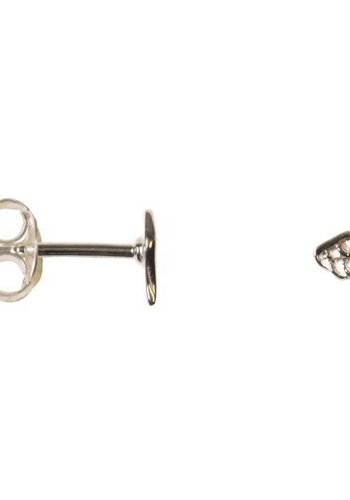 Mini Wing Stud - Sterling Silver