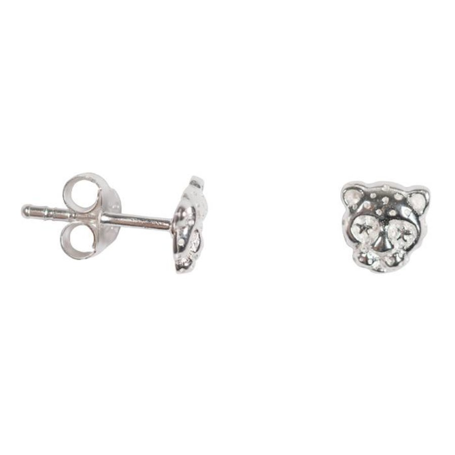 Mini Leopard Stud - Sterling Silver