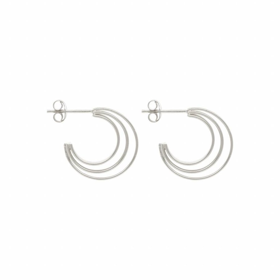 Crescent Hoops - Sterling Silver