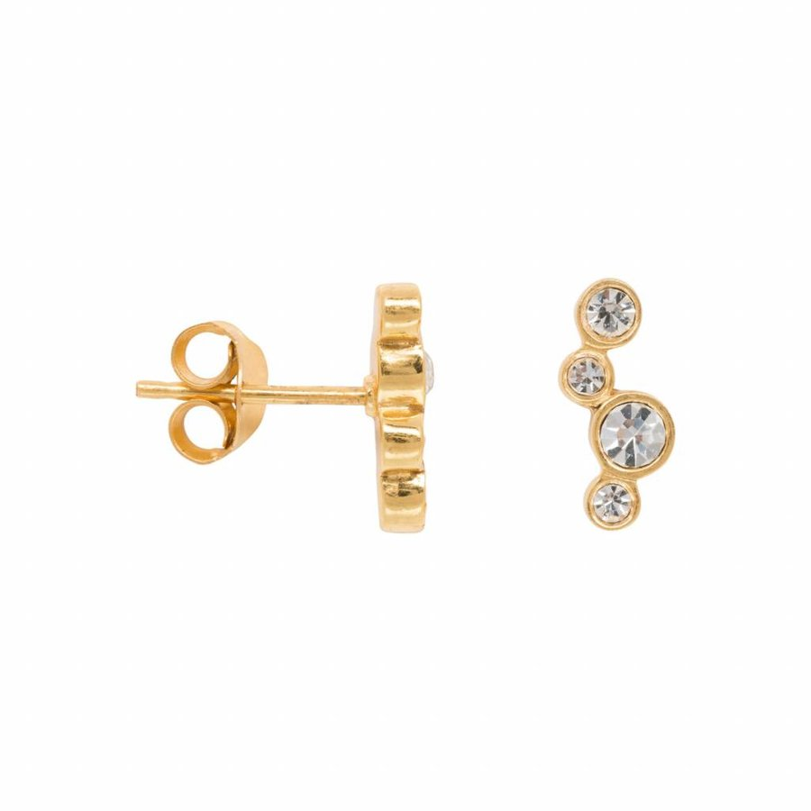 Twinkle Crystal Zirconia Earring - Gold Plated