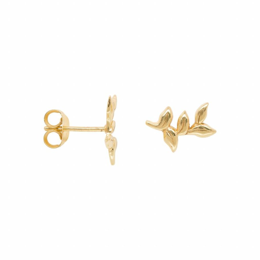 Leaf Earring - Gold Plated
