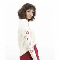 Embroidered Knits Beige