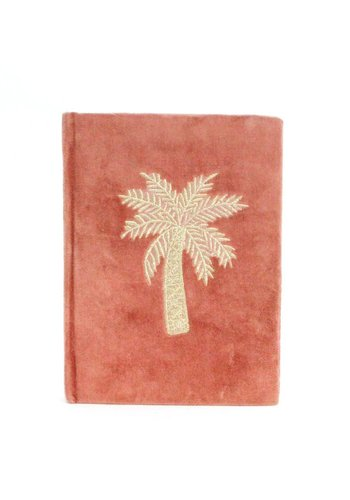 Notebook Palmtree Embroidery - Pink