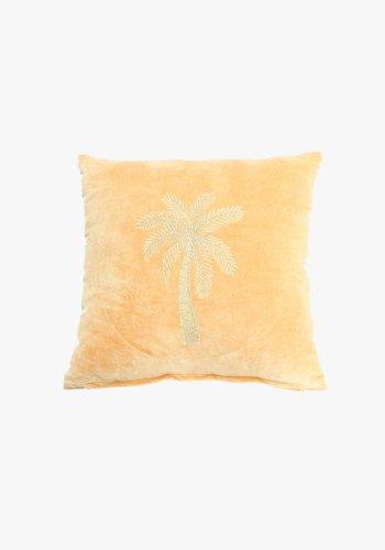 Velvet Cushion Makkamalee - Mustard