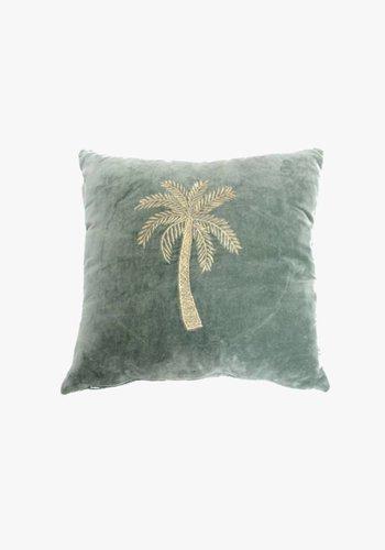 Velvet Cushion Makkamalee - Emerald Green