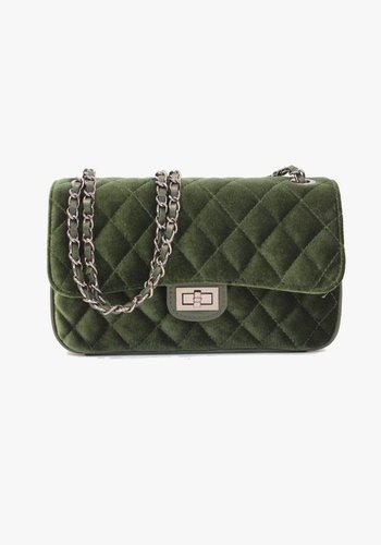 Soft Velvet Bag - Green  - PRE ORDER