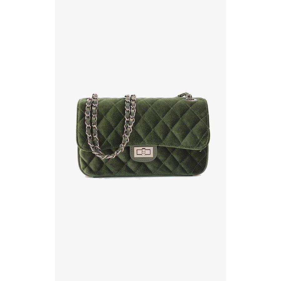 Soft Velvet Bag - Emerald