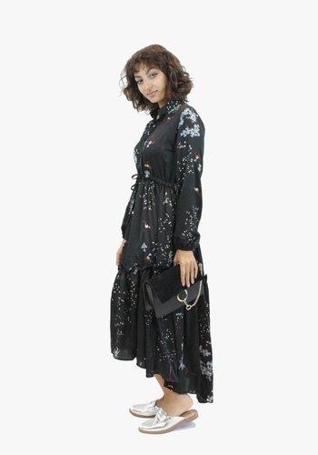 Flirty Floral Dress - Black