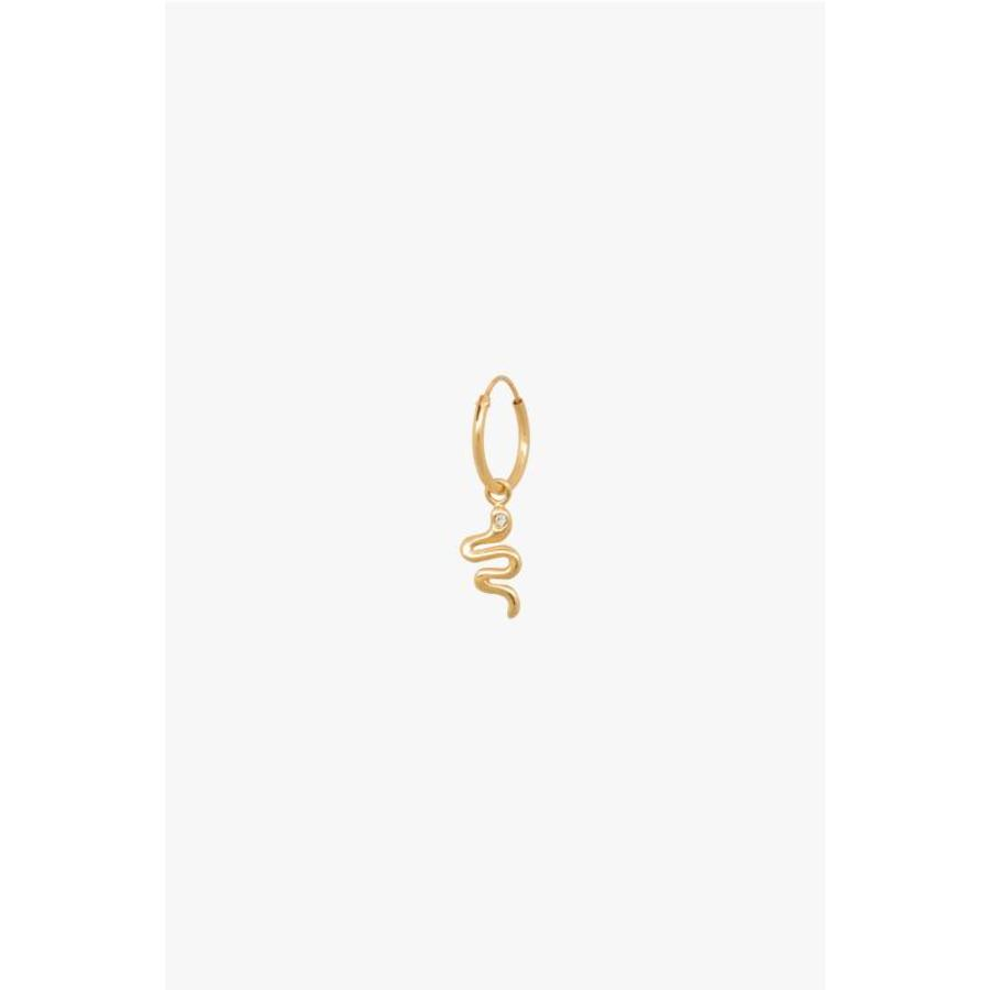 Snake Hoop - Gold