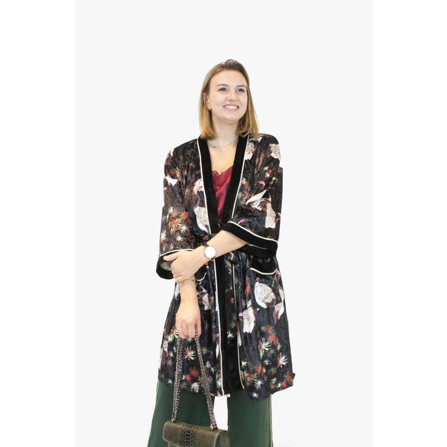 Japanese Velvet Kimono