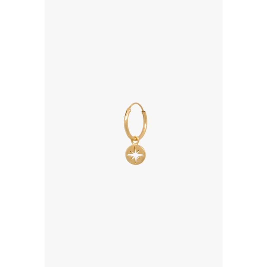 North Star Hoop - Gold Plated