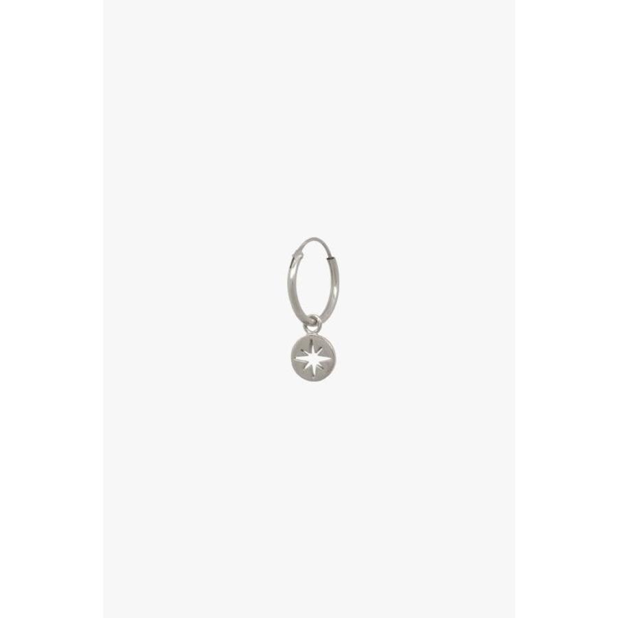 North Star Hoop - Sterling Silver