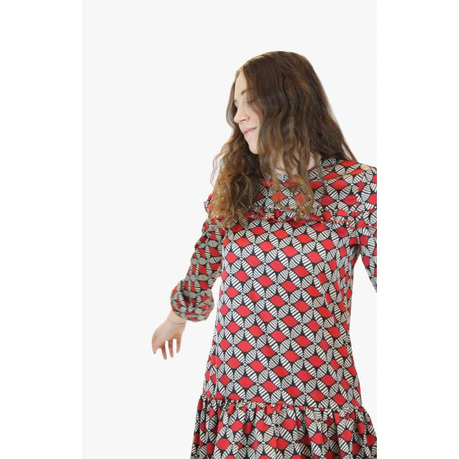 Rose Tea Dress - Red
