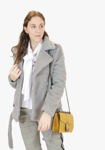 Teddy Trend Coat - Grey
