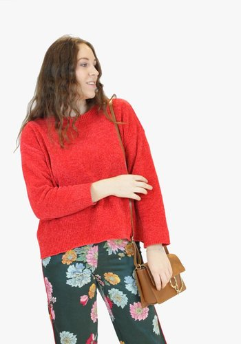 Chenille Knit Jumper - Red