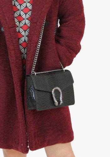 Mini Dragon Bag - Snake Black