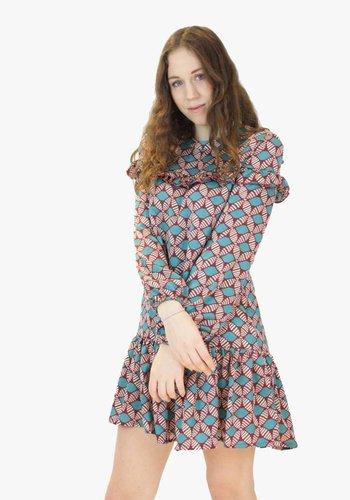 Rose Tea Dress - Blue